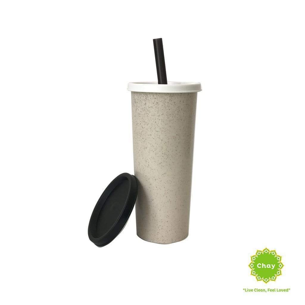 Milk Tea Wheat Straw Mug en House of Chay Gray