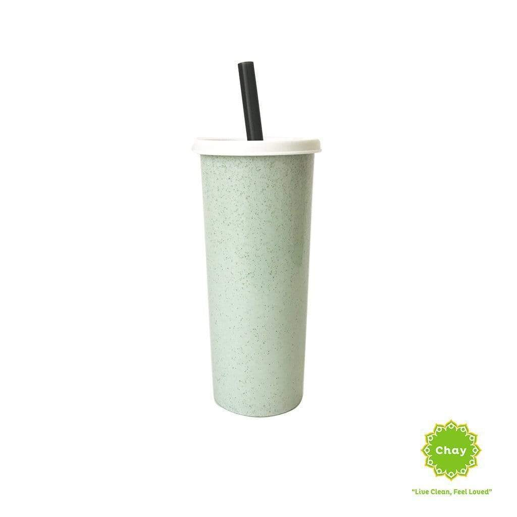 Milk Tea Wheat Straw Mug en House of Chay Green