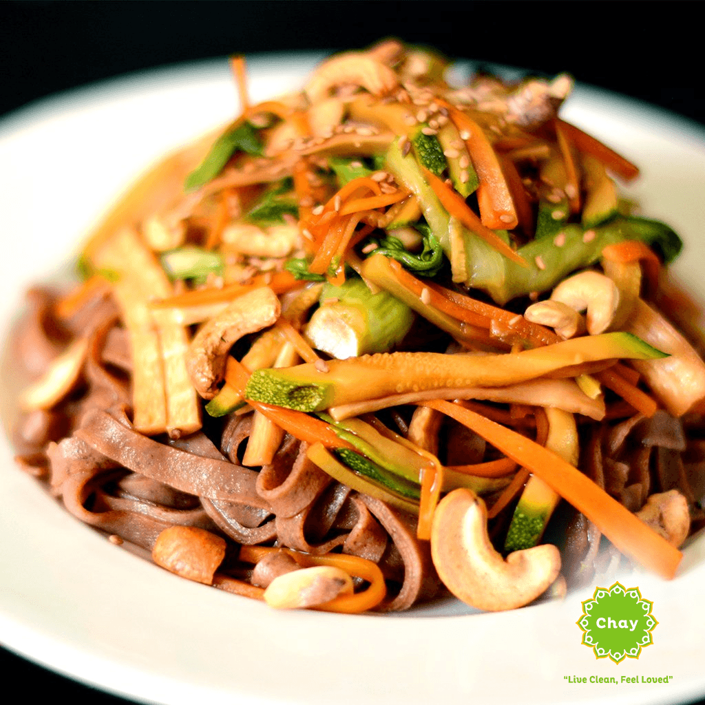 [ND04] Cashew nut brown rice noodles (V, GF) en House of Chay