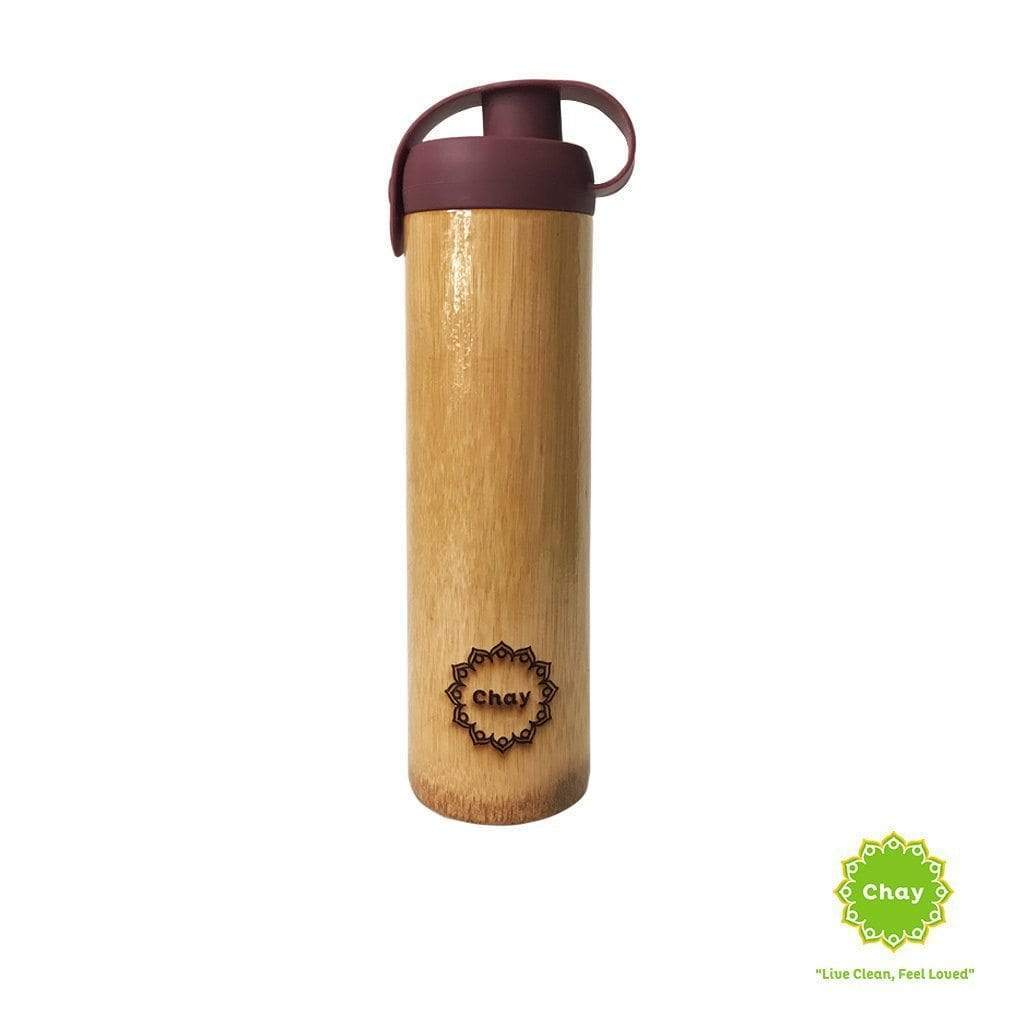 One piece bamboo bottle LIFE en Not just bamboo Earth