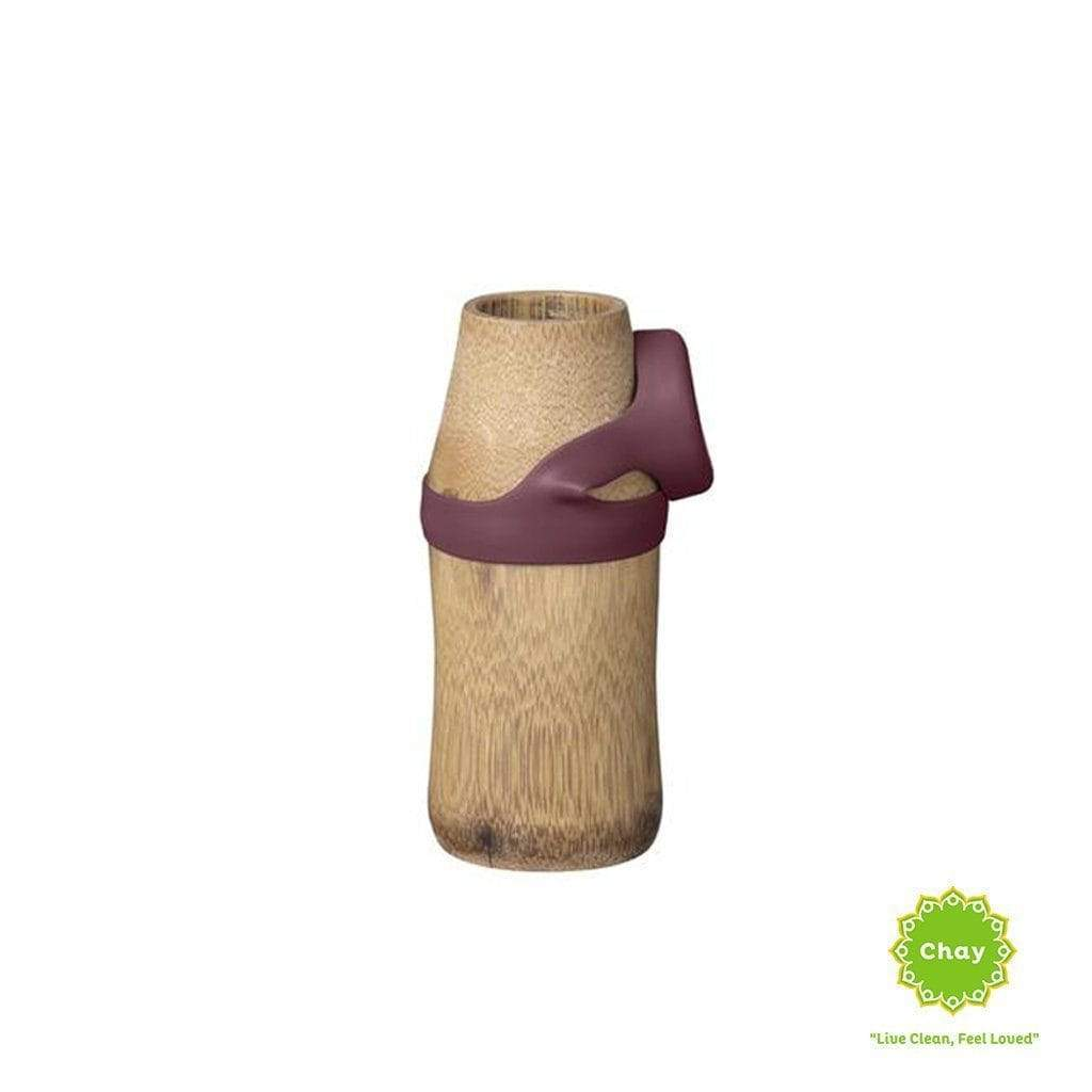 One piece bamboo bottle YOGA en Not just bamboo 250ml Earth