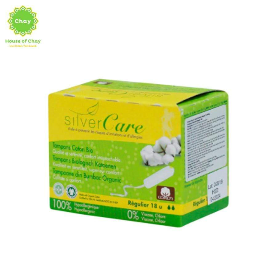 Organic Cotton Digital (non-applicator) Tampons Regular (18 pieces)