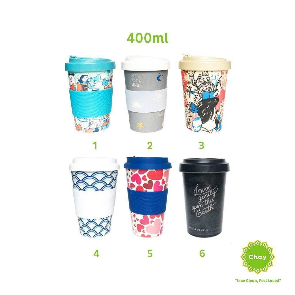 Reusable Bamboo Fiber Mug en House of Chay 400ml