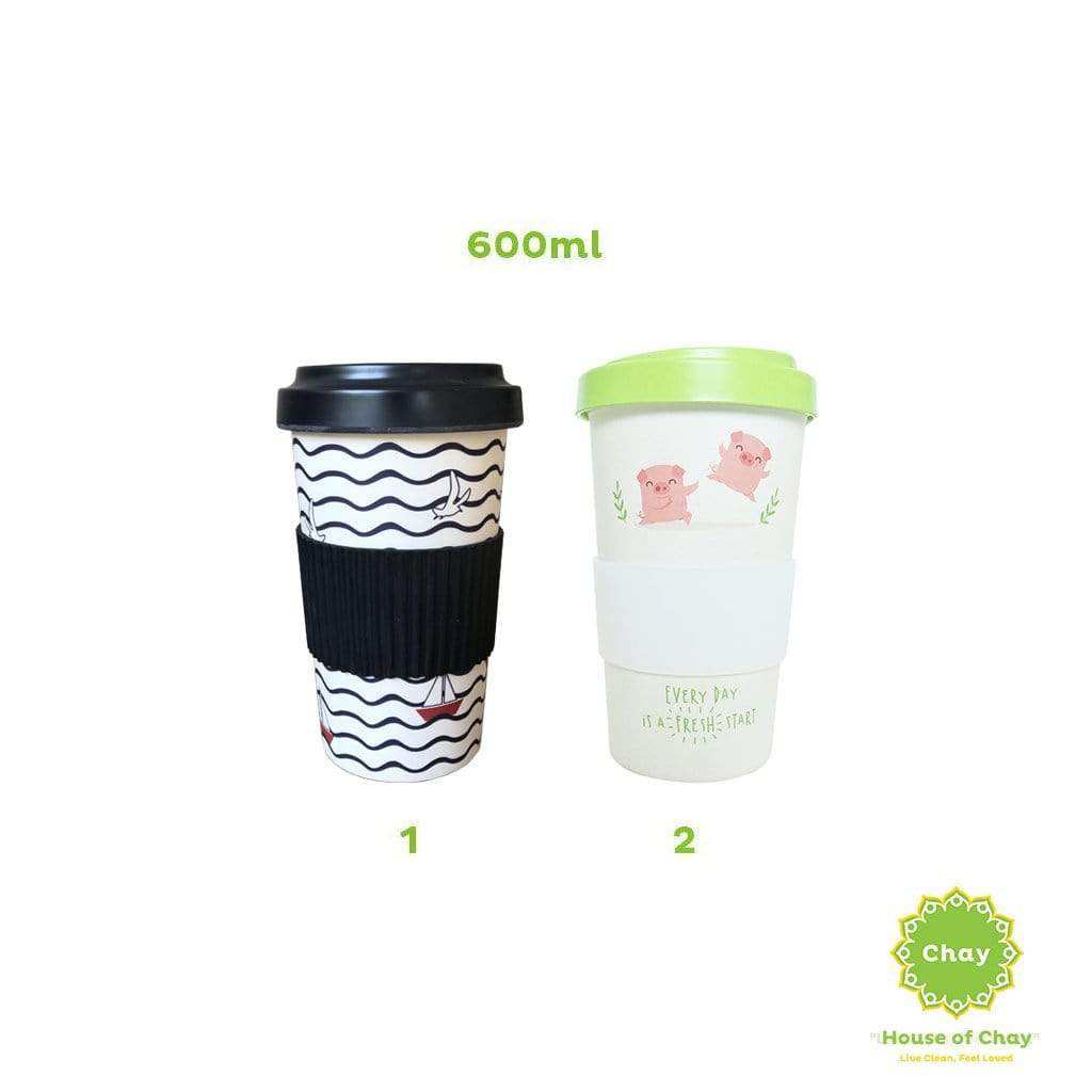 Reusable Bamboo Fiber Mug 600ml PD087.1