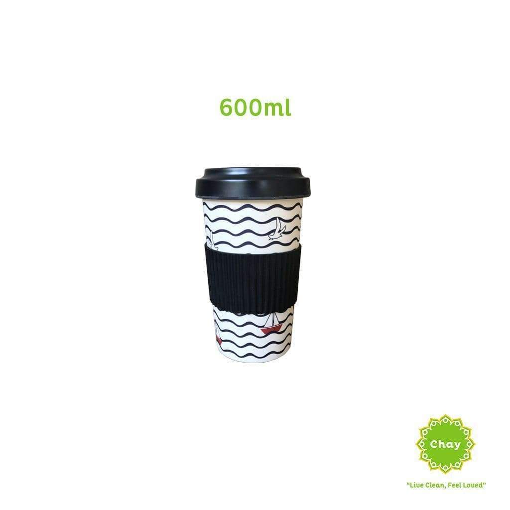Reusable Bamboo Fiber Mug en House of Chay 600ml