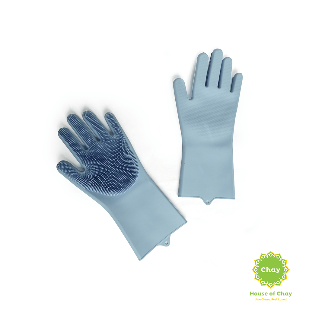 Reusable Silicone Gloves With Wash Scrubber