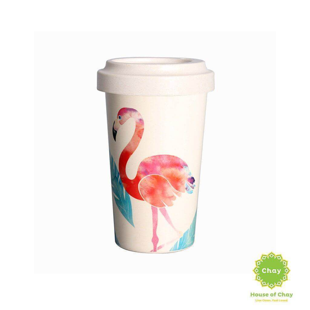 Rice Husk Mug en House of Chay 400ml big flamingo