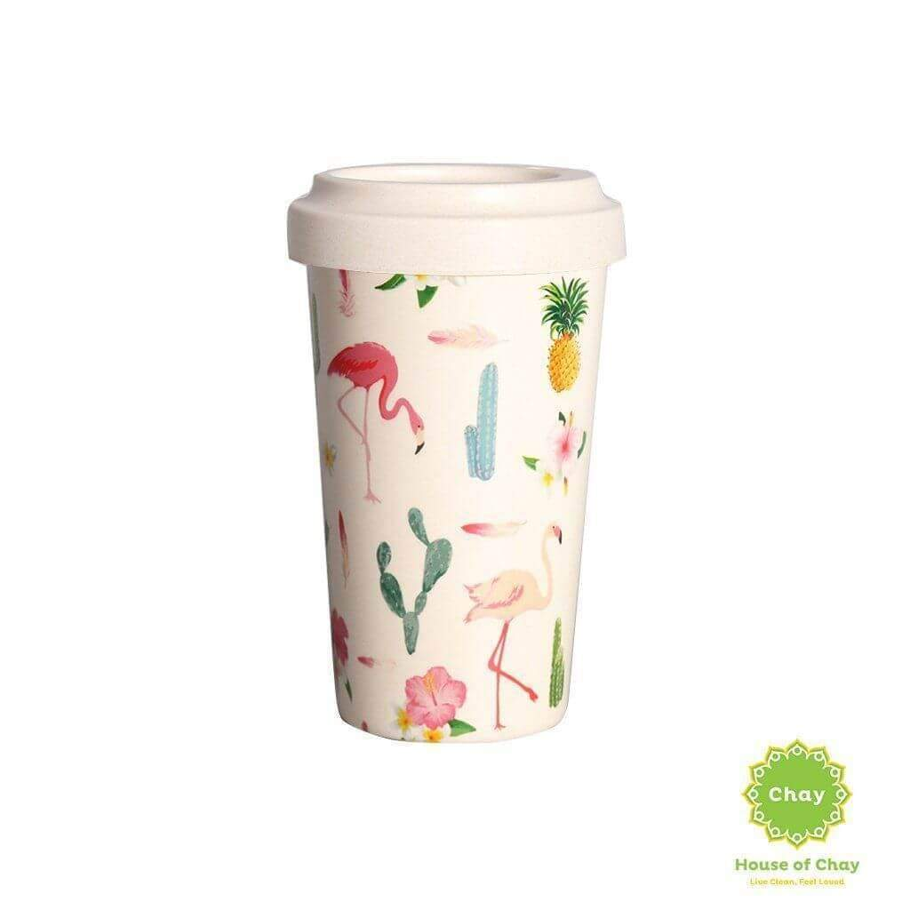 Rice Husk Mug en House of Chay 400ml small flamingo