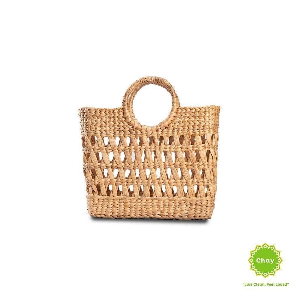 Square Open Seagrass Bag en House of Chay