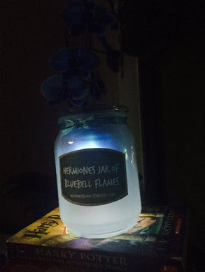 Jar of Magical Bluebell Flames Solar Night Light