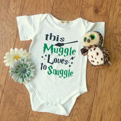 Green and Black Snuggle Baby Onesie