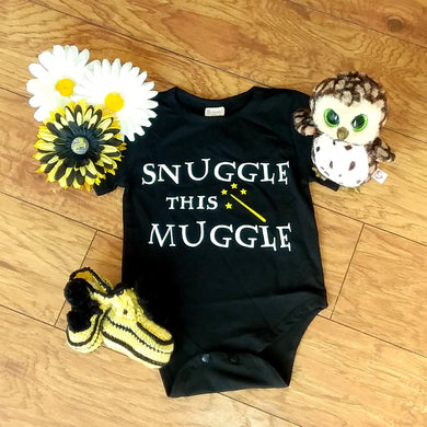 Black and Yellow Snuggle Baby Romper
