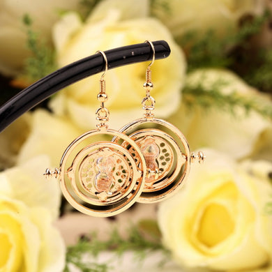 Spinner Earrings with Hourglass