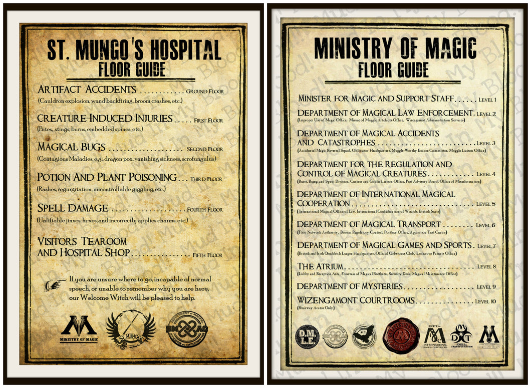 Floor Guide Posters- Hospital and Ministry