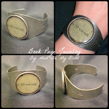 """All was well"" Silver Tone Cuff Bracelet"