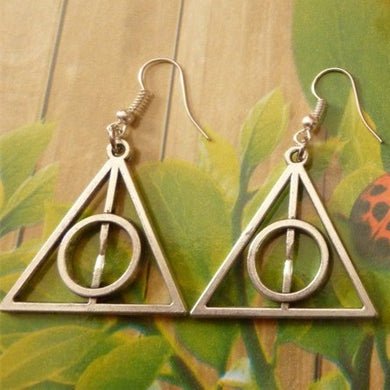 Silver Tone Geometric Earrings