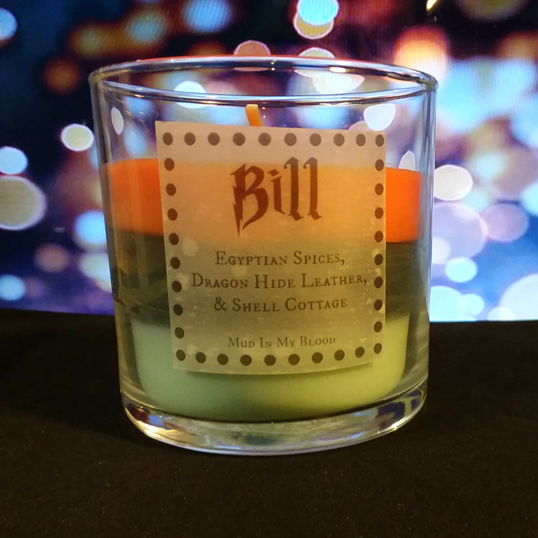 Bill 4 oz. Candle- Egyptian Spices, Dragon Hide Leather, Cottage