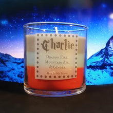 Charlie 4 oz. Candle- Dragon Fire, Mountain Air, Ginger