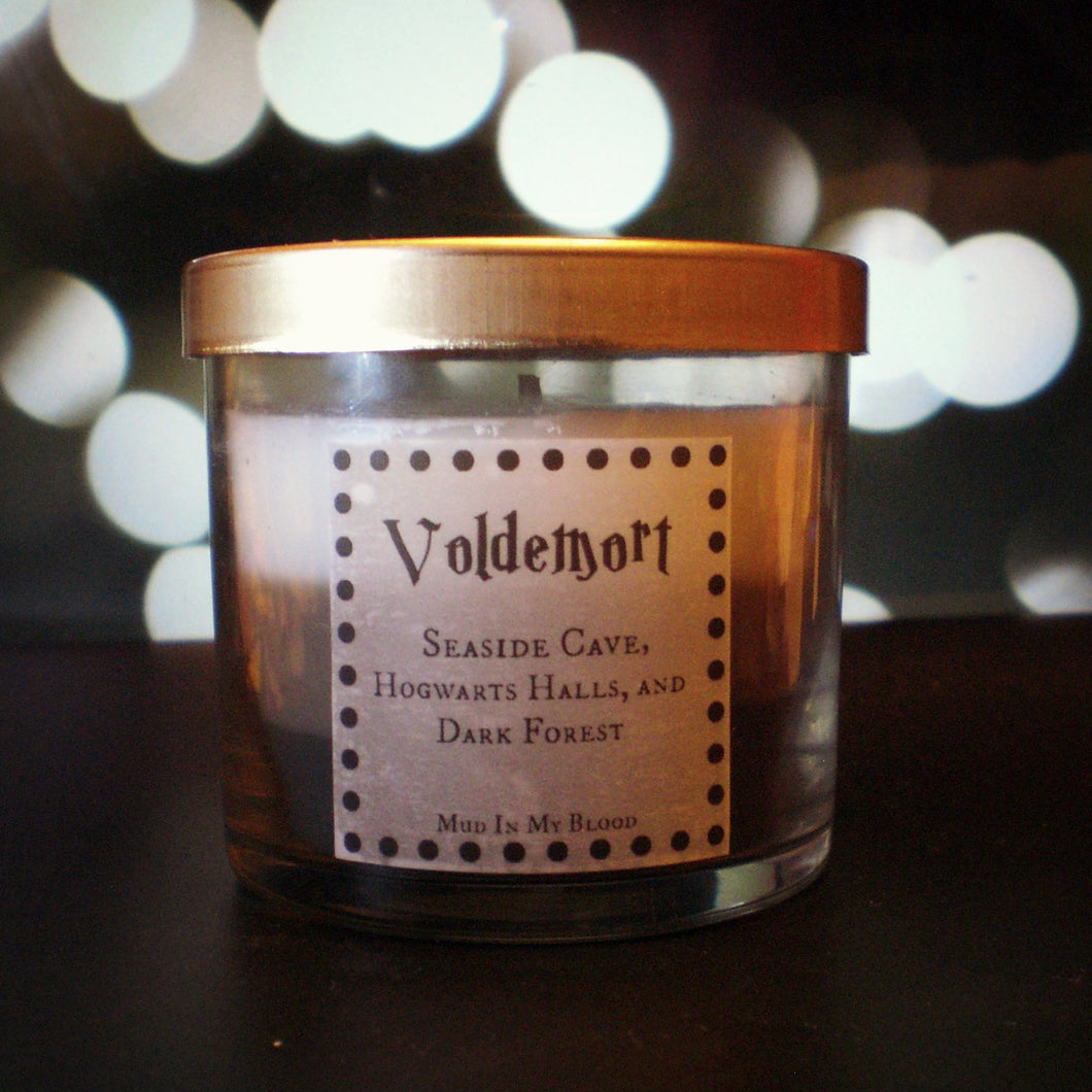 Dark Villian Scented 4oz Candle- Seaside Cave, Castle Halls, and Dark Forest