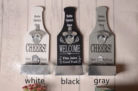 Wall Mounted Bottle Openers/3 Designs - The Drunk Boutique