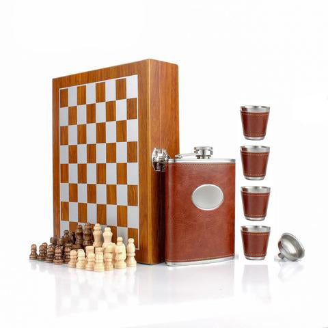 Chess and Hip Flask Set - The Drunk Boutique