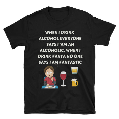 The Fantastic Alcoholic T-shirt - The Drunk Boutique