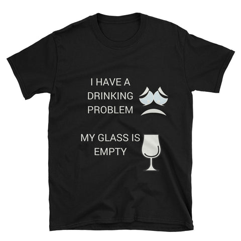 My Glass is empty T-shirt - The Drunk Boutique