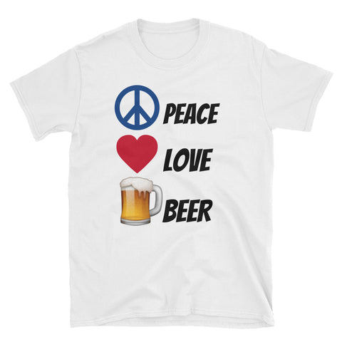Peace Love Beer T-shirt - The Drunk Boutique