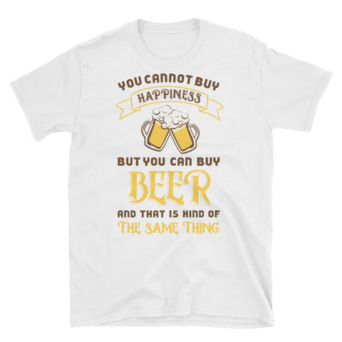 Beer Brings Happiness T-shirt - The Drunk Boutique