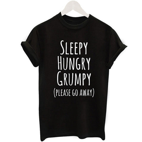 Sleepy Hungry Grumpy T-shirt - The Drunk Boutique