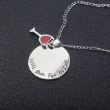 Will run for Wine Necklace - The Drunk Boutique