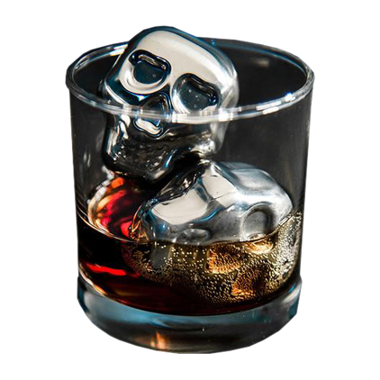Metal Skull Ice Cube - The Drunk Boutique