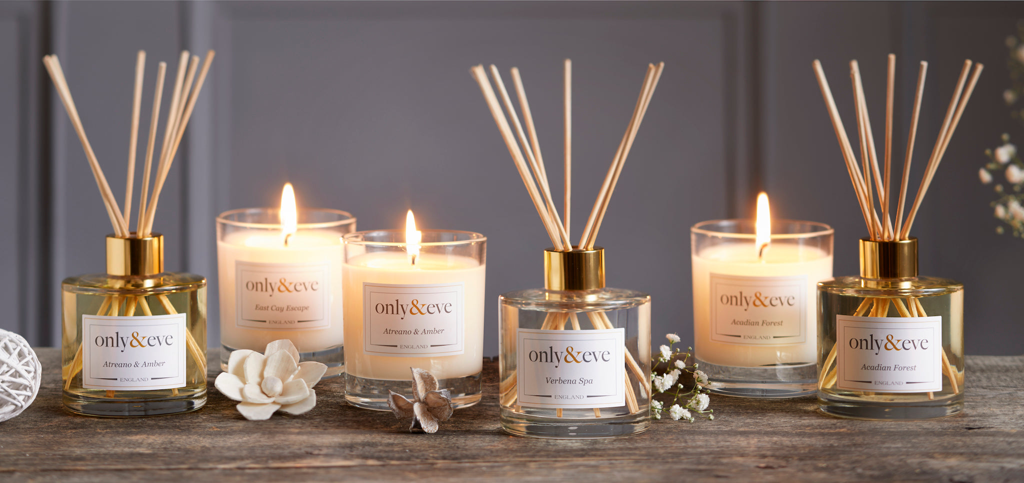 Luxury Scented Candles and Reed Diffusers