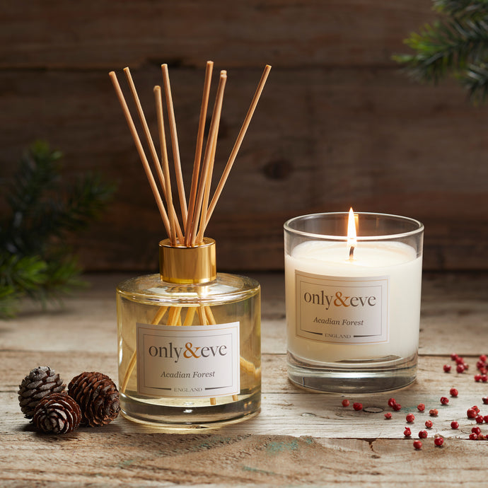 Acadian Forest 200ml Luxury Scented Candle and Reed Diffuser