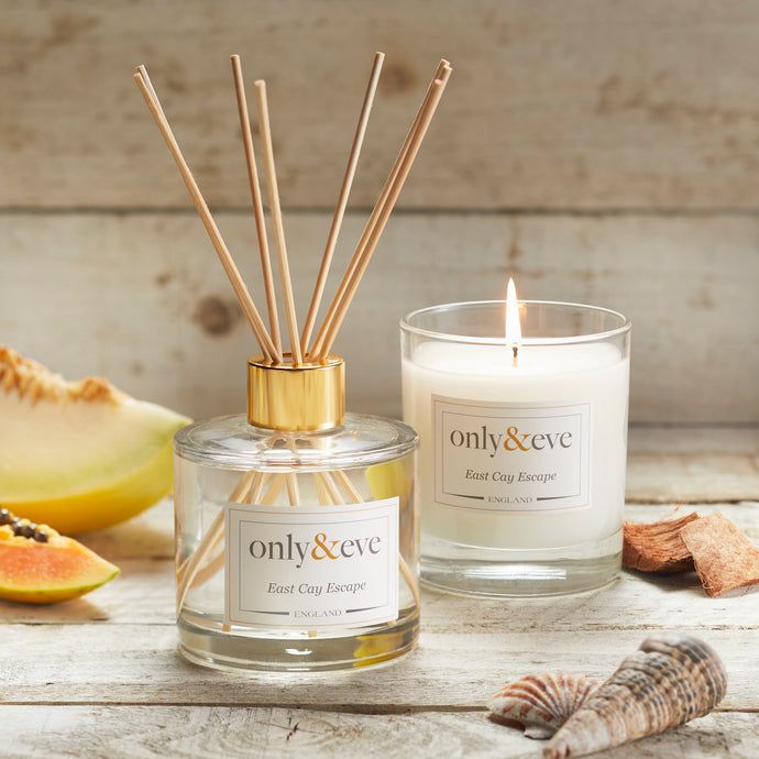 East Cay Escape Luxury Scented Candle and Reed Diffuser