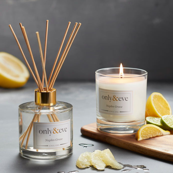 Naples Grove  Luxury Scented Candle and Reed Diffuser