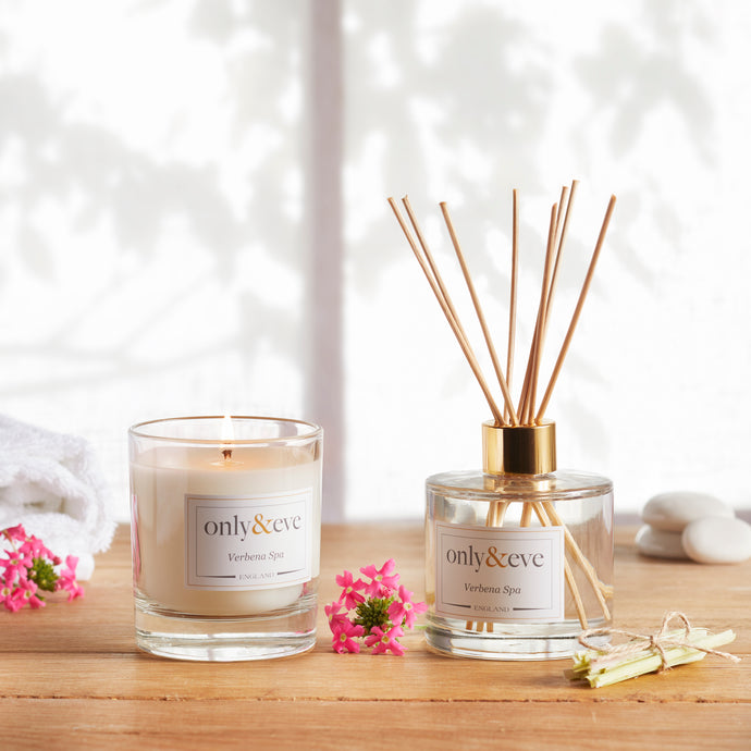 Verbena Spa Luxury Scented Candle and Reed Diffuser