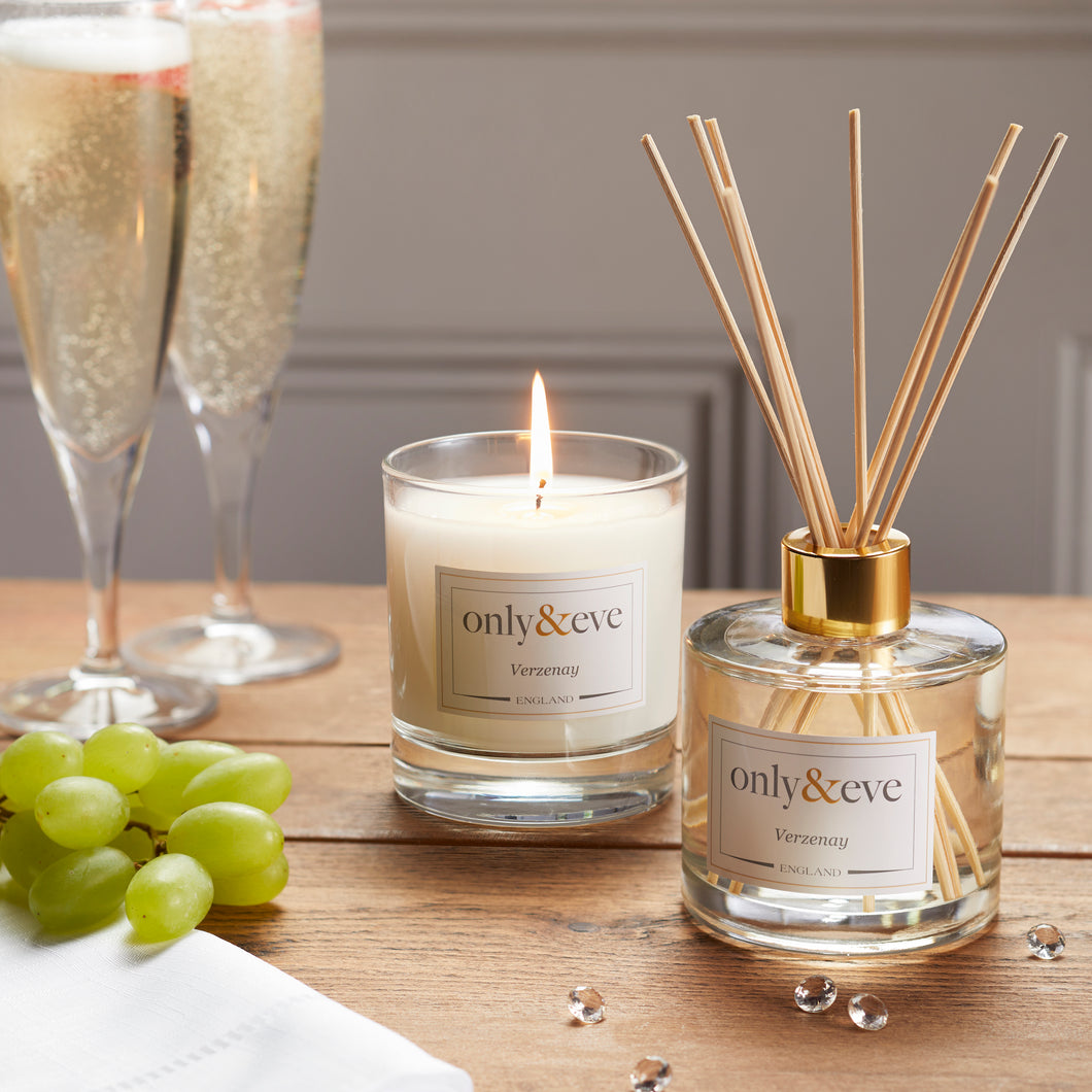 Verzenay Luxury Scented Candle and Reed Diffuser