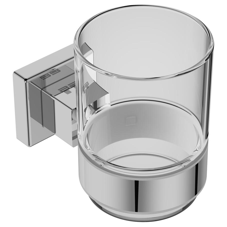 8532- Cup Holder + Glass - Polished