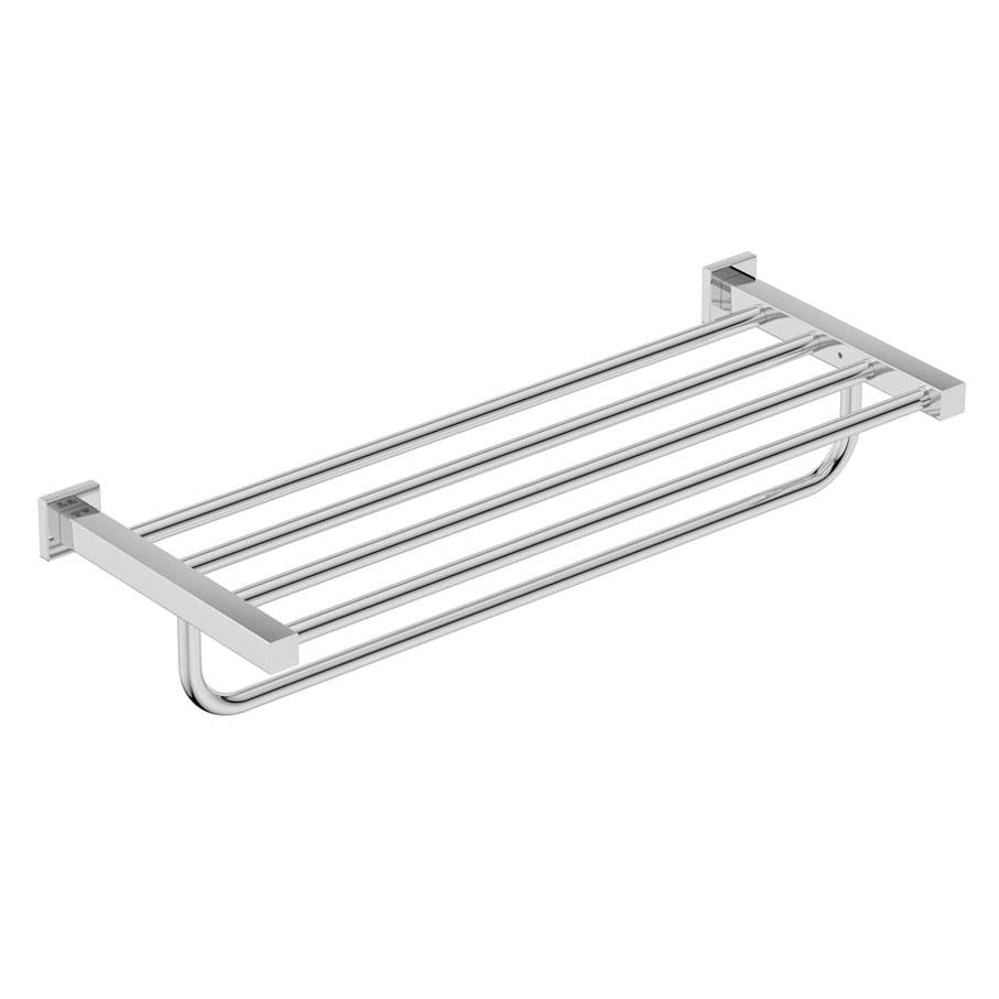8593- Towel Shelf & Hang Bar - Polished