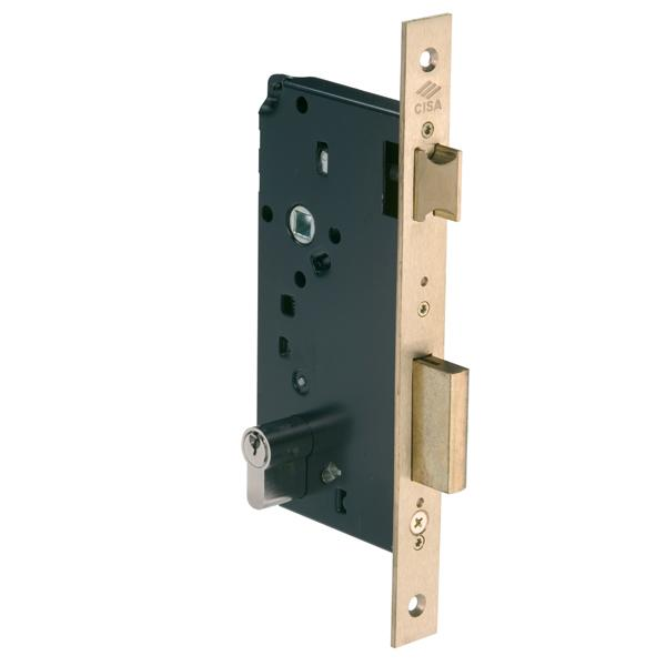 5C110 - Latch & Double Throw Deadbolt Lock - Brass