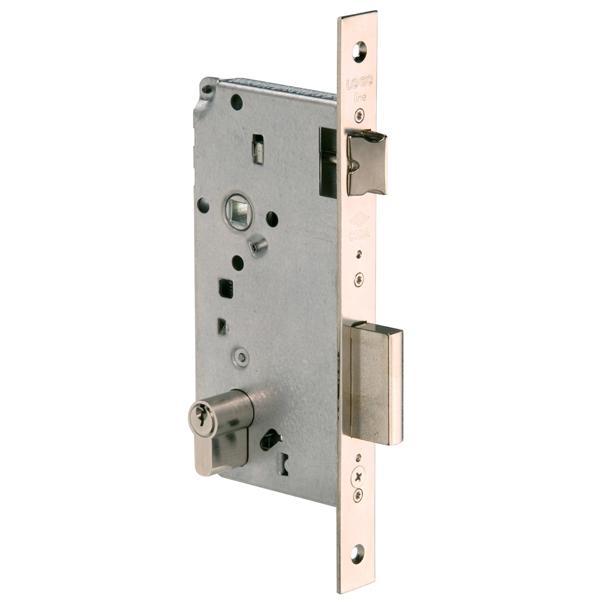 5C611 - Latch & Double Throw Deadbolt Lock - Nickel Plated