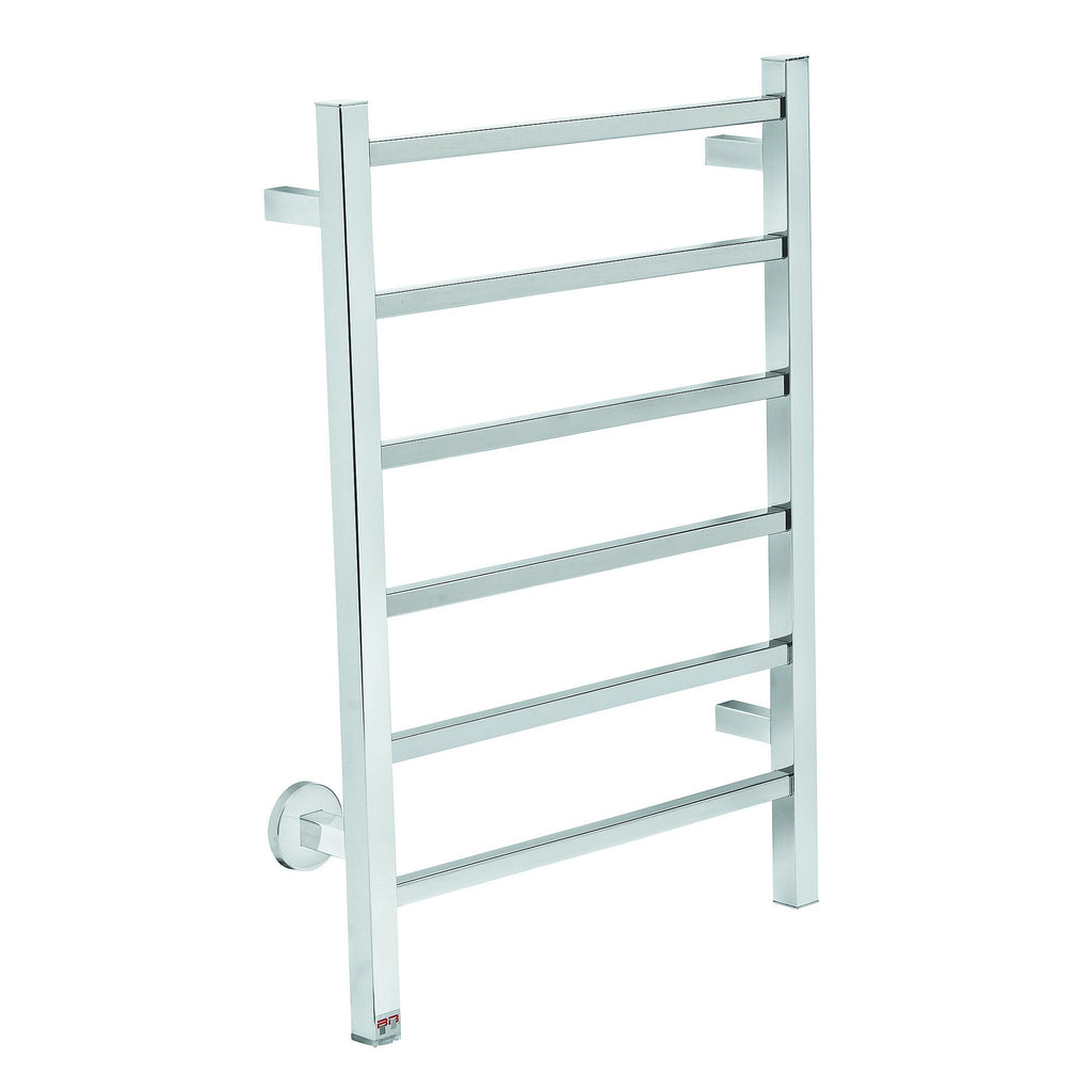 CUB06SPSPTS - Cubic 6 Bar Heated Towel Rail