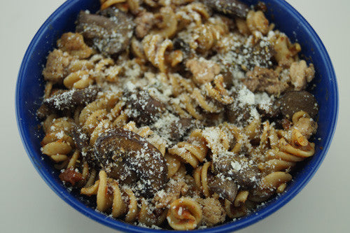 Quick, Simple Pasta Bowl with Mushrooms & Ground Turkey Skillit Cooking