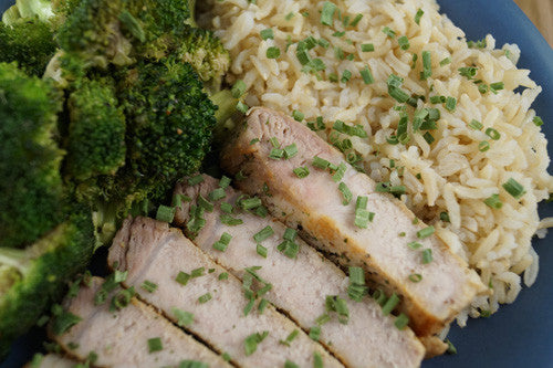 The Tremendous Trio: Pork, Rice & Broccoli