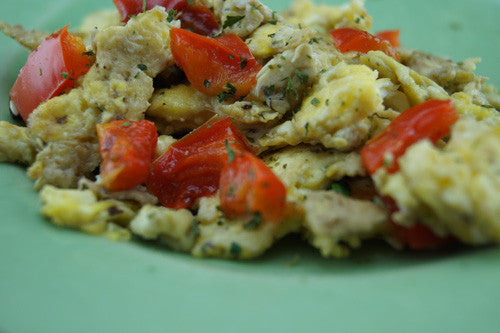 Scrambled Eggs with Ham & Bell Pepper