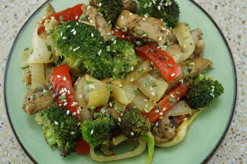 Healthy, Tasty Chicken Stir-Fry with Broccoli & Bell Peppers Skillit Cooking