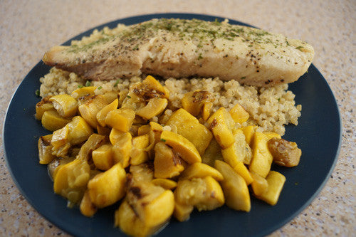 Pan-Cooked Whitefish with Sauteed Squash & Quinoa