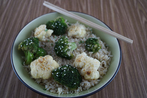 Teriyaki Broccoli & Cauliflower Fried Quinoa Bowl