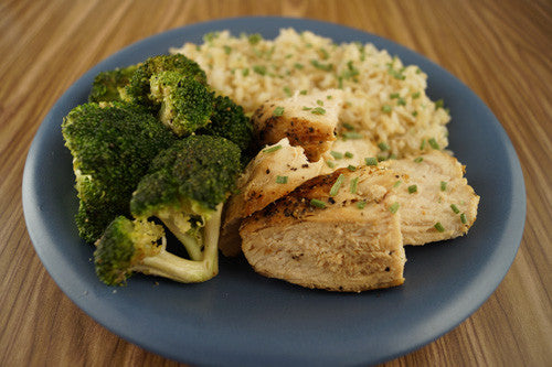 Pan-Seared Chicken with Broccoli & Rice